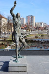 Statue in Laibach